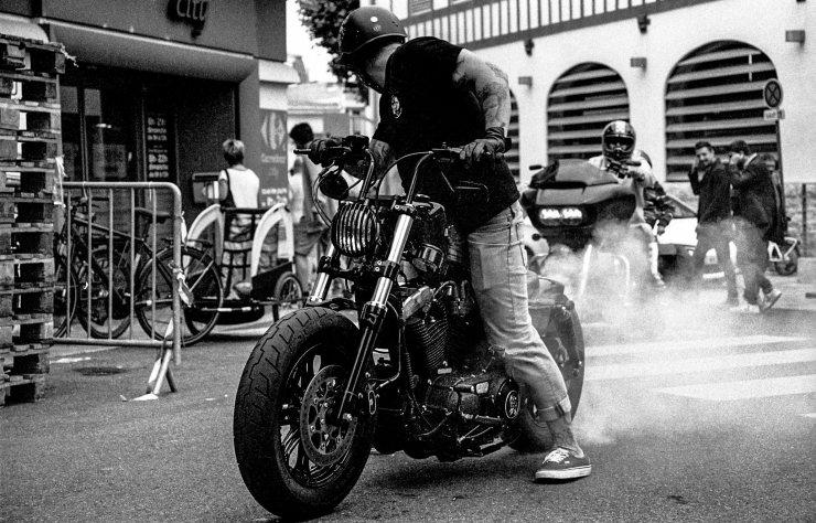 Harley DAvidson bournout Biarritz
